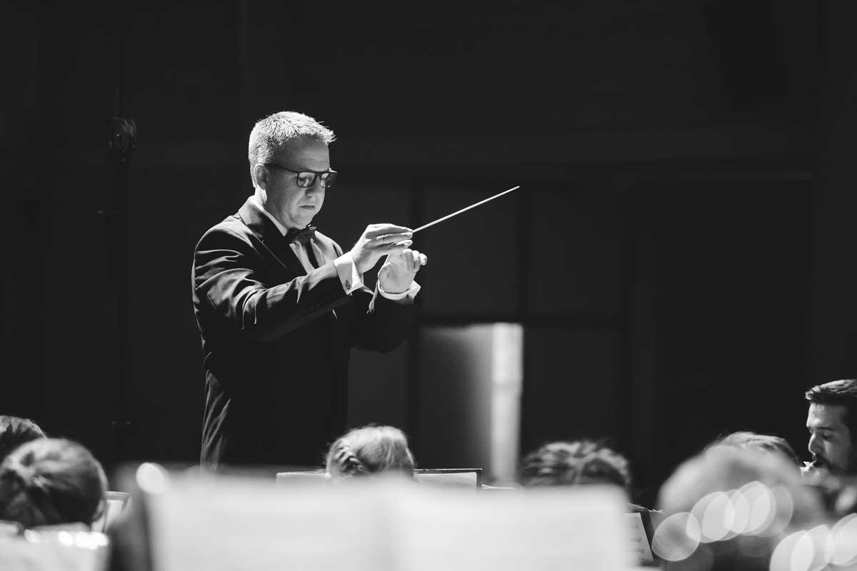 Jubiläumskonzert 2018 mit der Orchestergemeinschaft Seepark 001 - Michael Schönstein - Dirigent und Musiker aus Freiburg