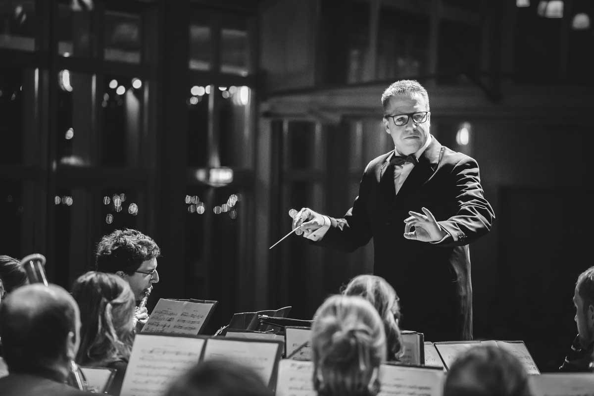 Jubiläumskonzert 2018 mit der Orchestergemeinschaft Seepark 002 - Michael Schönstein - Dirigent und Musiker aus Freiburg