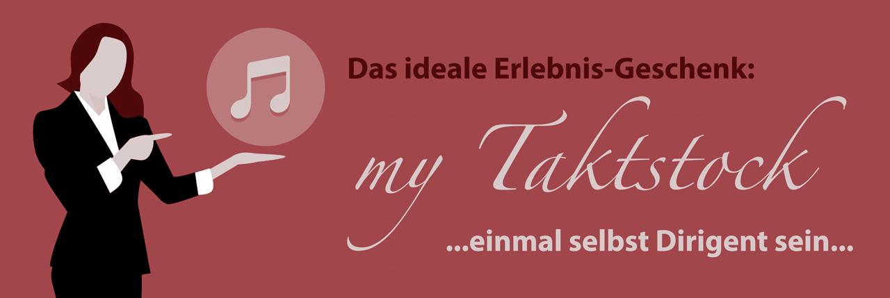 """Die Geschenkidee """"my Taktstock"""" - Einmal selbst Dirigent sein und ein Orchester dirigieren. Jetzt das ideale Erlebnis Geschenk verschenken"""